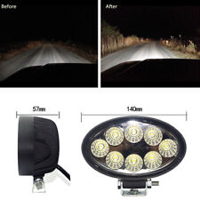 24W LED Oval Driving Work Light Spot Beam Waterproof for Off Road SUV Car Truck