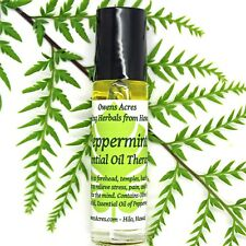 Roll On Oil, Peppermint Essential Oil Therapy Blend, Aromatherapy Roll On