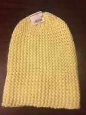Womens Warehouse One Size Yellow Acrylic Beanie Hat Free Post
