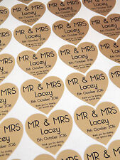 60 Personalised Mr & Mrs Stickers Thank You..Special Day Wedding Sticker - Gold