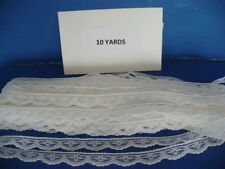 10 YARDS  1/2 IN. WHITE POLYESTER   SCALLOPED LACE TRIM
