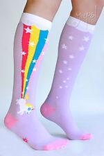 Rainbow Blast Unicorn Knee High Socks - Sock it to Me Derby funky socks