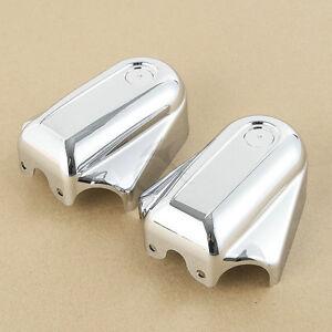 Chrome Bar & Shield Rear Axle Covers Fit For Harley Softail FLSTN FLSTSB 08-17