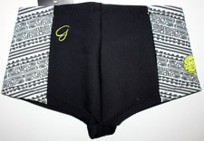 New Women's RIP CURL G BOMB Black 1mm BOY LEG Neoprene Wetsuit Shorts Size 8, 10