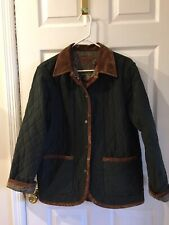Pendelton Womens Green Quilted Jacket Reversible Size M