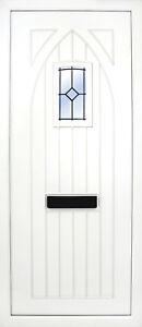 PVC uPVC White Full Door Panel 20mm 24mm 28mm 790mm x 1930mm Gothic BL08 Beveled