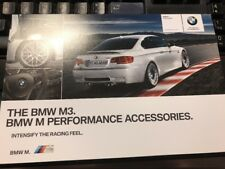 BMW Performance M3 Accessories folder E90 92 93 M3 Super Rare! Mint BMW Piece!