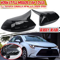 Horn Style Side Rear View Mirror Cover For Toyota Corolla Levin All 2020 2021