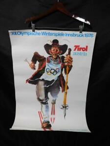 1976 Innsbruck Winter Olympic Games Cross Country Skiing Poster Walter Potsch