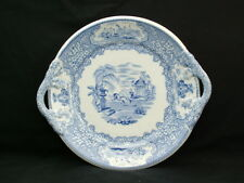J & M P Bell & Co Glasgow Clyde Pottery Triumphal Car pattern two handlled dish
