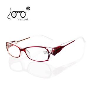 Rhinestone Reading Glasses Women Eyeglass Frames Fashion Spectacles +50 +75 100