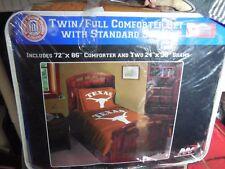 NCAA Texas Longhorns APPLIQUE Twin/Full  3 PC Comforter Set