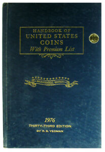 VINTAGE: 1976 BLUE BOOK - HANDBOOK OF UNITED STATES COINS