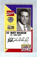 MATT WILHELM OSU 2003 SENIOR BOWL OHIO STATE BUCKEYES ROOKIE CARD