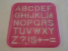 Vintage 1987 TUPPERTOYS Tupperware Upper Case Letters Stencil Art Alphabet Toy