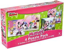 New listing Disneys Minnie Mouse - Set Of 4 Puzzle Pack 6 Piece Jigsaw Puzzles