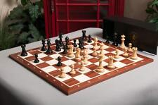 The Grandmaster Chess set, Box, and Board Combination - Ebonized Boxwood
