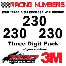 Racing Numbers Vinyl Decals Stickers boat car BMX bike off road sprint quad frnL
