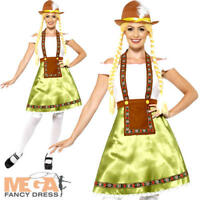 Bavarian Beer Maid Ladies Fancy Dress Oktoberfest German Adults Ladies Costume