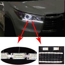 2PCS 12V Dual Tearful Eyes LED Light Turn Signals Daytime Running Lights Pretty