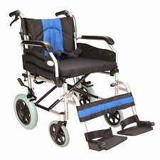 "Lightweight Extra wide 20"" transit aluminium wheelchair with brakes ECTR02-20"