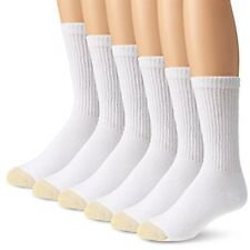 Gold Toe Men's White Cotton Crew Athletic Sock, 12-Pair Sock Size 10-13