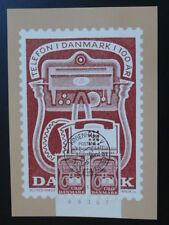 telephone plate number stamp Slania Harsffjord 1981 maximum card Denmark 1765