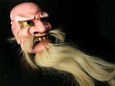Japanese Handmade AKUJYO mask noh kyougen kagura demon mask bugaku