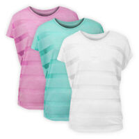 Womens Ladies Lightweight Striped Oversized Top Baggy Fit Casual T-shirt Blouse