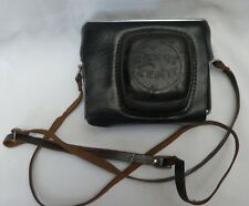 Original Hard Black Leather Russian Zenit USSR 35mm Ever Ready Camera Case
