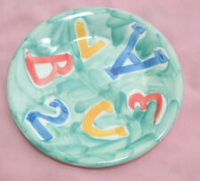 """Ceramica San Marciano hand painted Italy Alpha salad plate 8"""""""