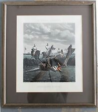 Mc QUEEN'S SPORTING FOX HUNT TITLED IMPENDING DANGER PRINT - ENGRAVER C HUNT
