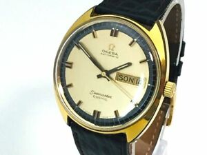 OMEGA Watch Seamaster COSMIC 107   Automatic 18K Gold Plated Day Date   T3575