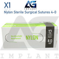 4-0 Nylon Sterile Surgical Sutures Non Absorbable Blue Monofilament Medical