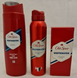 OLD SPICE WHITE WATER 100ML AFTERSHAVE 150ML DEO 250ML SHOWER GEL
