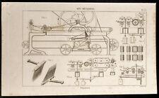 1852 - Engraving Arts Machine Heads Filatures (6) .Science, Industry