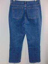LL Bean Cotton/Spandex Blend Denim Straight Leg Casual Jeans Women's 14 Rg Pants
