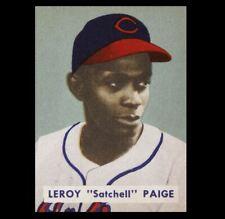 1949 Bowman Satchel Paige PHOTO Cleveland Baseball Card Image, Negro League Star