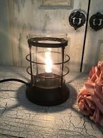 Boudoir Parlor Table Accent Lamp With Glass Globe.