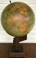 EARLY 20TH C. ANTIQUE NEW PEERLESS 12 INCH GLOBE BY ATLAS SCHOOL SUPPLY CO.