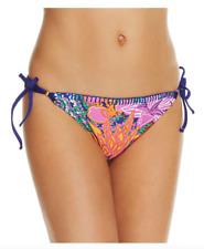 Trina Turk Women's Tropical Escape Triangle Side Tie Bikini Bottom Sz 6 0111