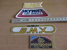 4 Sticker BMX OLDSCHOOL Rahmenaufkleber Fahrrad Aufkleber 80er Jahre NOS Decals