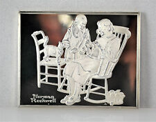 #6847 - Norman Rockwell - Fondest Memories - Sterling Silver Bar - Knitting