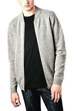 Wool Zip Neck Regular Thin Knit Jumpers & Cardigans for Men