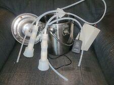 5l Portable Electric Milking Machine Stainless Steel Milk Drum Cow Milker Farm