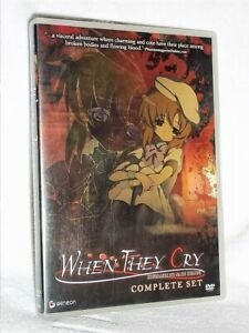When They Cry Complete Set (DVD, 2006, 6-Disc Set) nail-biting anime series