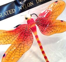 Dragonfly Ceiling Wall Nylon Hanging Garden SunRoom Home Lg Party Decor Orange