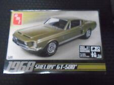 AMT 1968 FORD SHELBY MUSTANG COBRA JET GT500 ©2009 PLASTIC MODEL CAR KIT 1/25