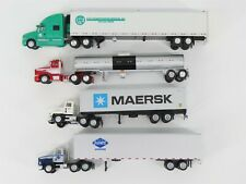 Lot of 4 Ho 1:87 Scale Herpa / Other Tractor Trucks w/ Trailers & Tanks
