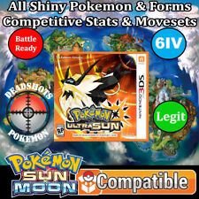 Custom Legit Unlocked Pokemon Ultra Sun - All Pokemon, All Items! 3DS